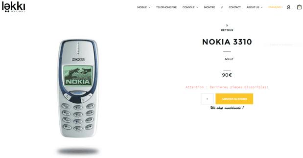 nokia 3310 neuf sur lekki