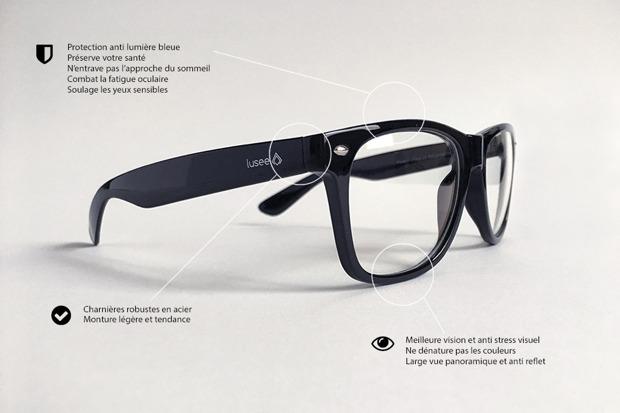 Test et avis des lunettes anti-lumière bleue Lusee - Nalaweb 5b12a410d4e