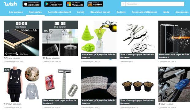 Merveilleux Wish Des Soldes Toute L Année test et avis du site wish. c'est bien mais attention ! - nalaweb