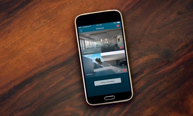 application mobile camera interieure 360 bosch smart home