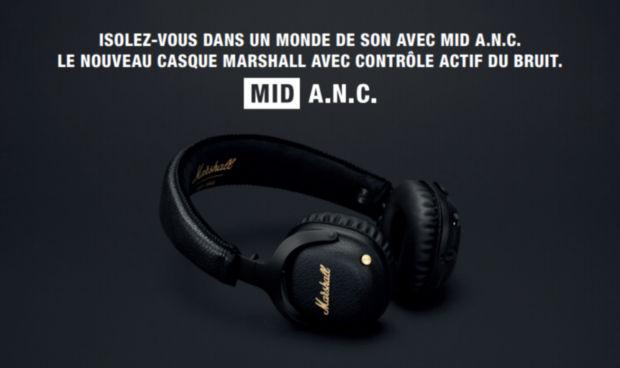 mid a.n.c marshall headphone