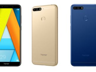Honor 7A blue Black Gold