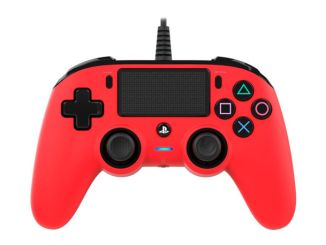 nacon wired compact controller rouge