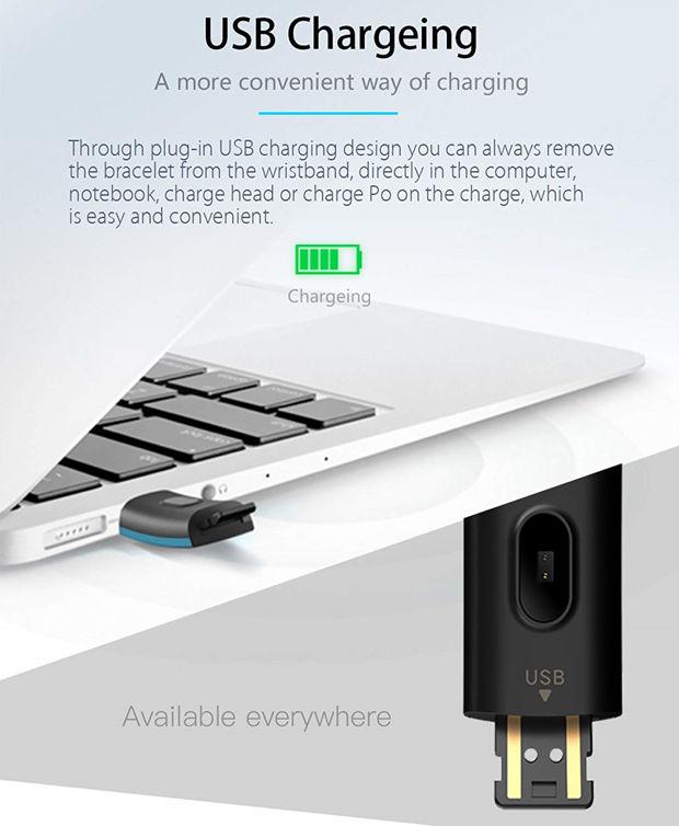 recharge USB smartwatch Bloranda