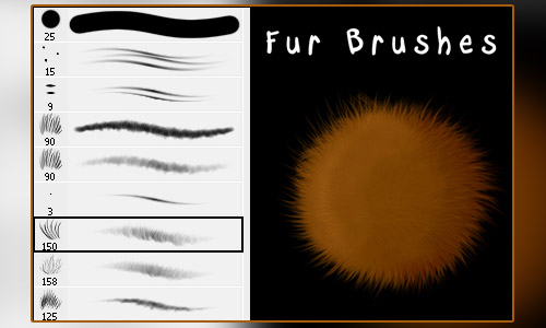 30 Fluffy Fur Photoshop Brushes For Free Naldz Graphics