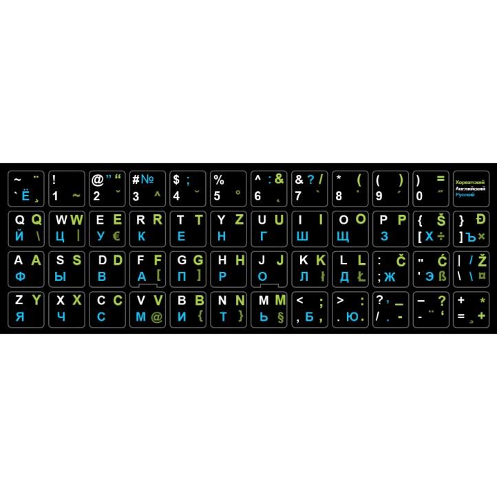 Наклейка на клавиатуру Хорватский