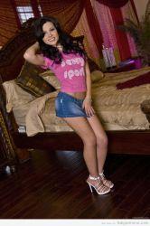 Rebeca Linares en pose inocente