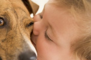 babz kissing dog