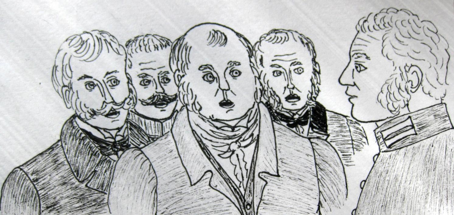 Рисунки к рассказу ревизор