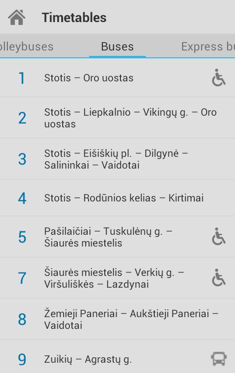Busai Vilnius
