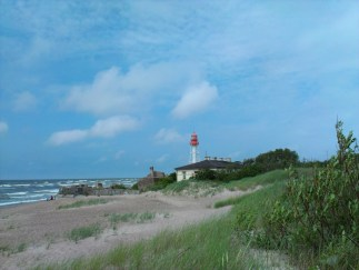 Łotwa - latarnia morska w miejscowości Pape