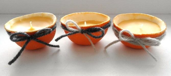Ozdoby z pomarańczy: Świąteczne Świeczki