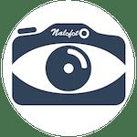 L'instant nature - carte de la presqu'île : logo bleu blanc 150 nalofoto