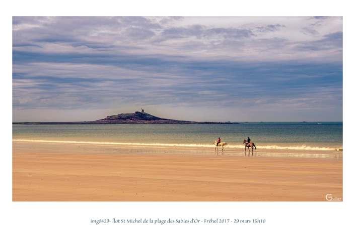 portfolio du photomarcheur - plage des Sables d'Or et îlot St Michel
