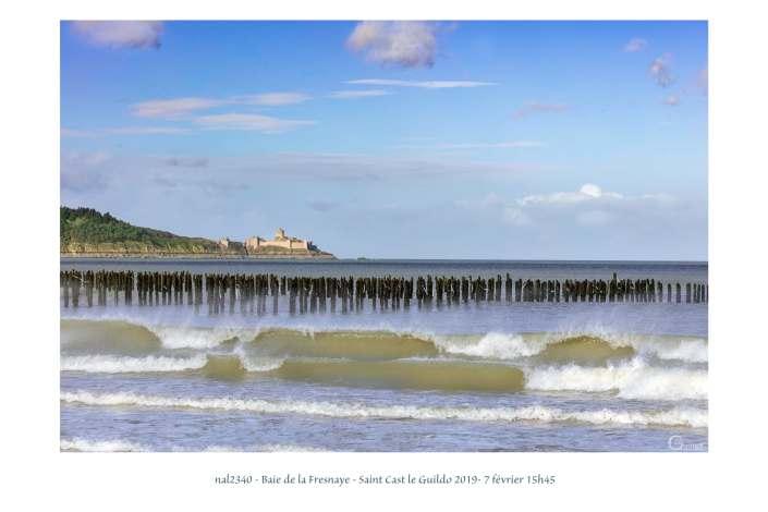 portfolio du photomarcheur - marée montante dans la baie de la Fresnaye