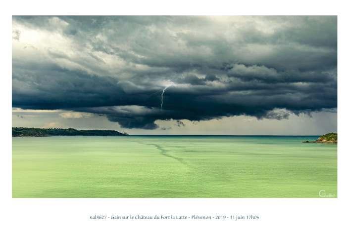 portfolio du photomarcheur - orage dans la baie de la Fresnaye