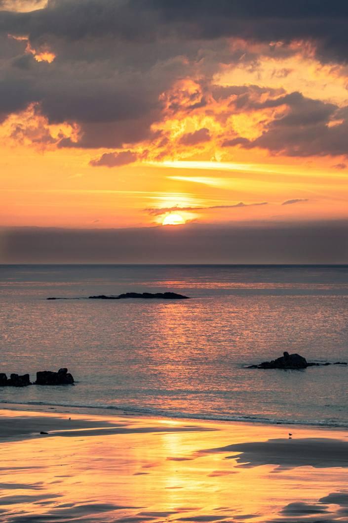 Coucher de soleil sur la plage des Grèves d'en bas 2021