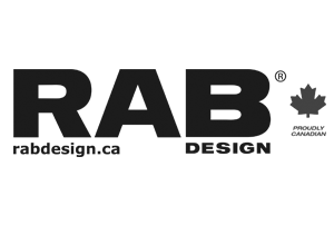 RAB lighting design greyscale logo