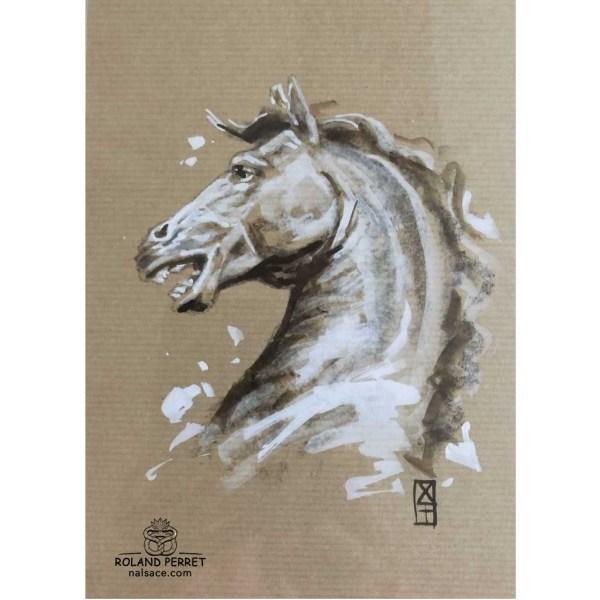 Tête de cheval cambré
