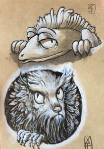 deux créatures étranges
