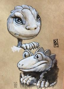 Deux dragons rigolos