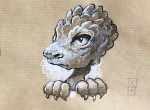 Petit dragon timide