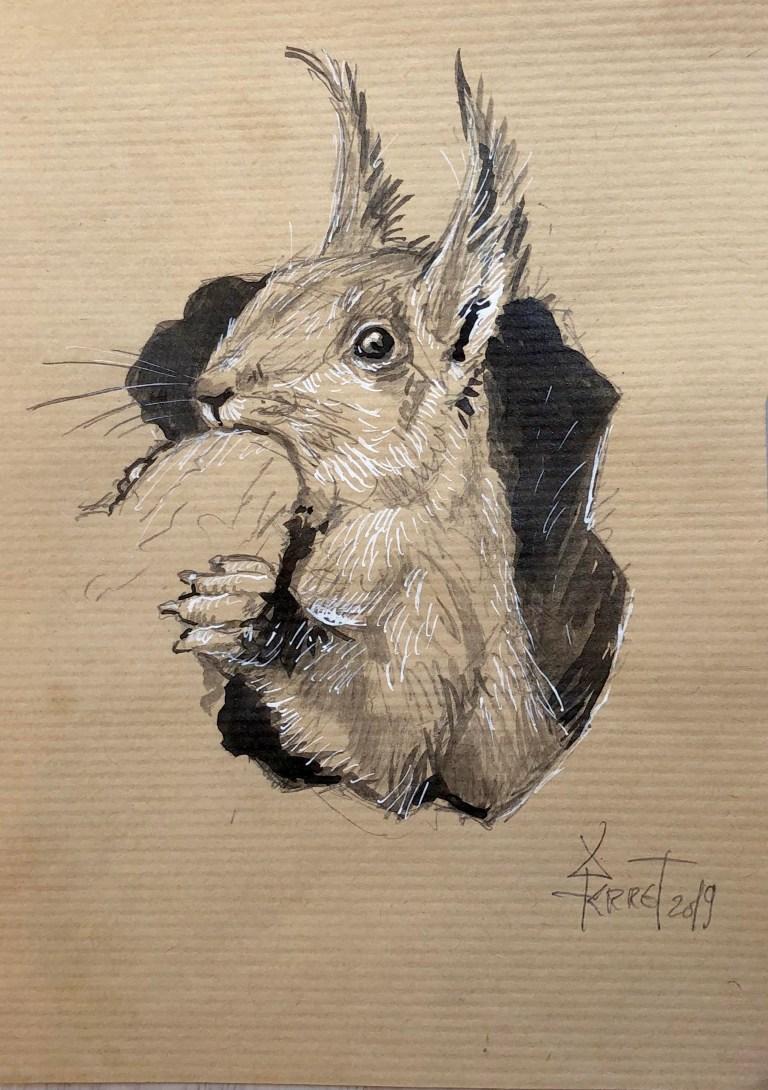 72-ecureuil grignotant - VENDU