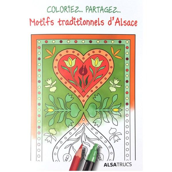 Coloriage Motifs Alsace