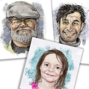 Portraits-caricatures