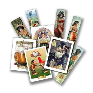 Cartes postales, marque-pages
