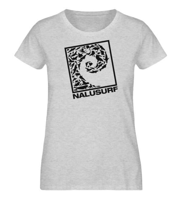 Nalusurf Ocean Life - Damen Organic Melange Shirt-6892