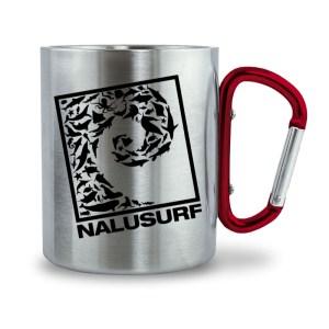 Nalusurf Sealife Edelstahl Tasse - Edelstahltasse mit Karabinergriff-6989