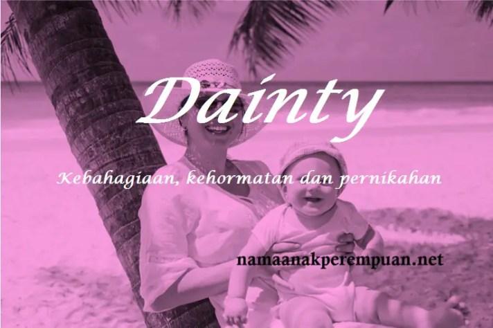 arti nama dainty