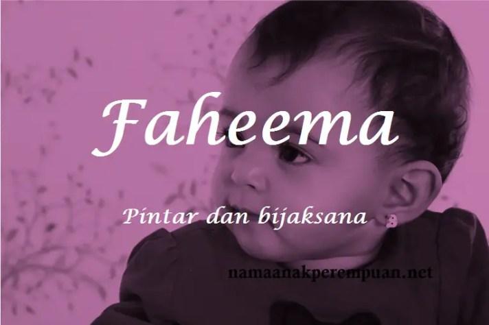 arti nama faheema