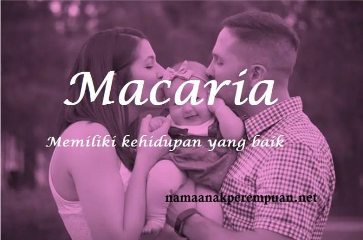 arti nama macaria