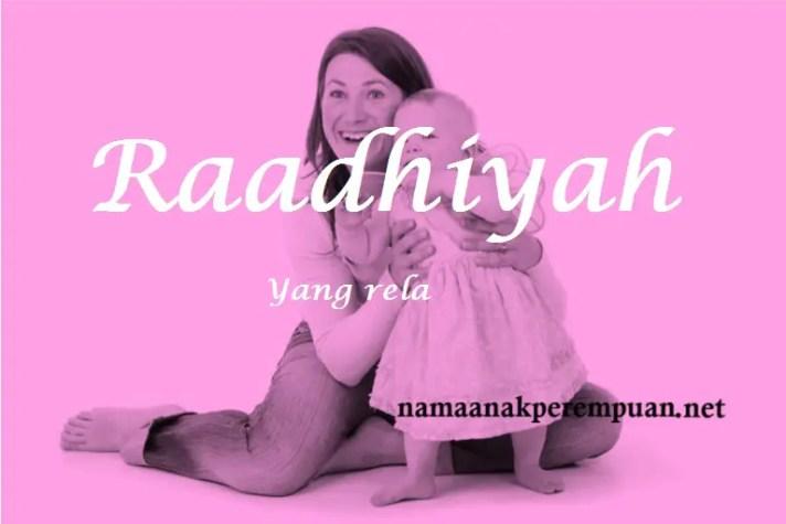 arti nama raadhiyah