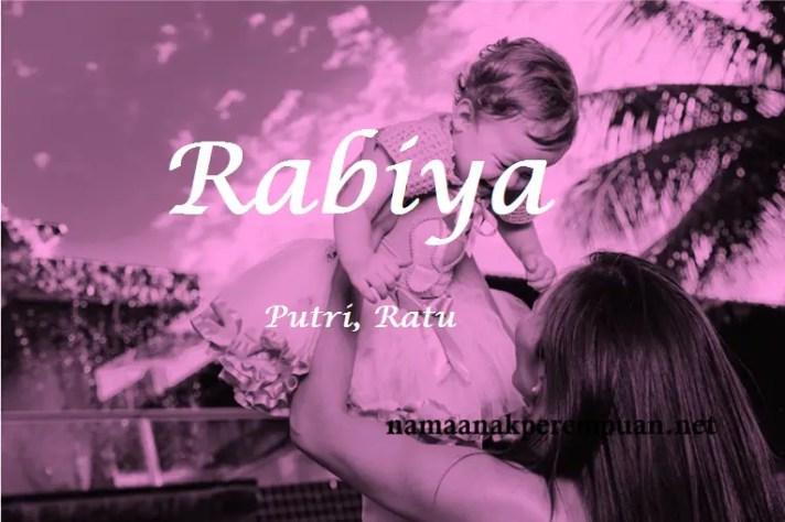 arti nama rabiya