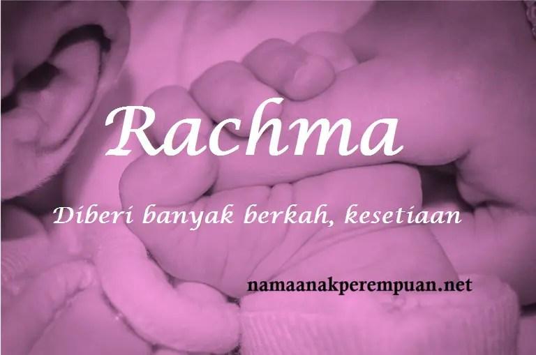Nama Bayi Perempuan Rangkaian Dan Arti Nama Rachma Namaanakperempuan Net