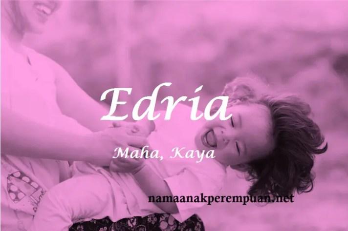 arti nama Edria