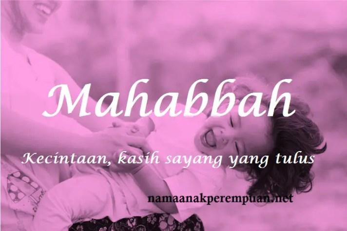 arti nama Mahabbah