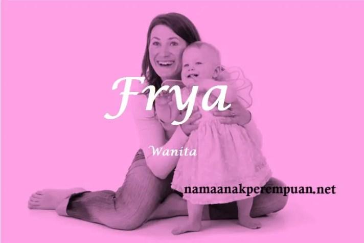 arti nama Frya