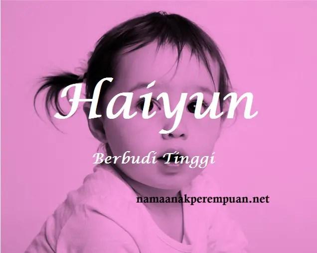 arti nama Haiyun