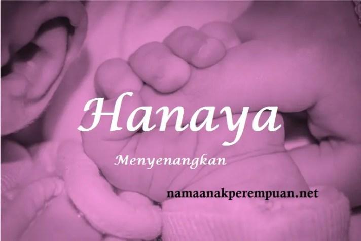 arti nama Hanaya