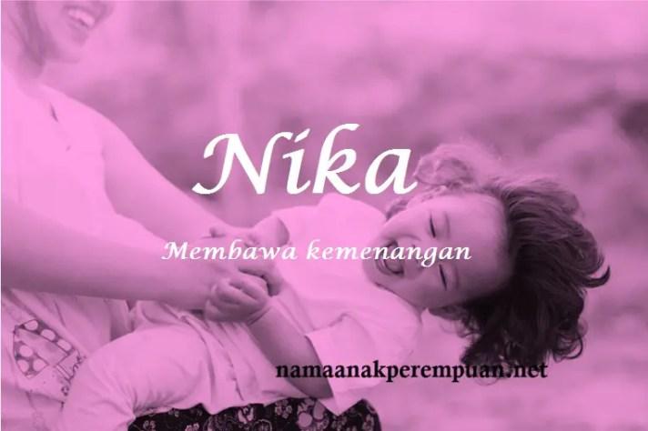 arti nama Nika