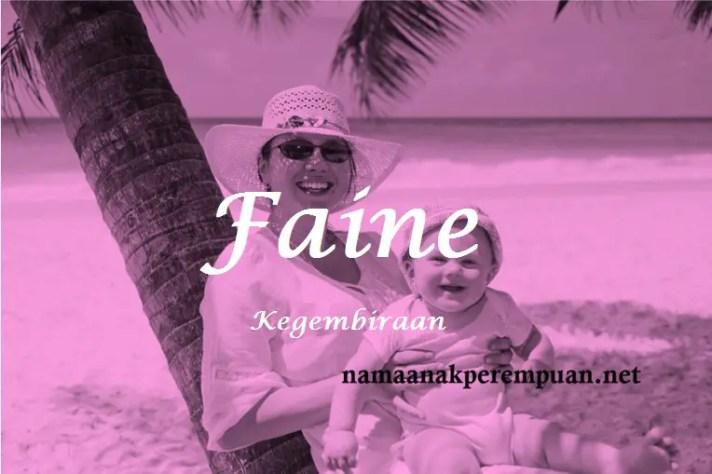 arti nama Faine