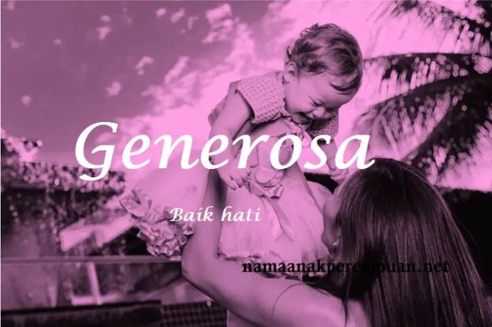 arti nama Generosa