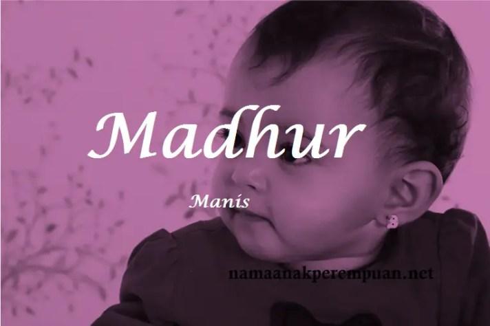 arti nama Madhur