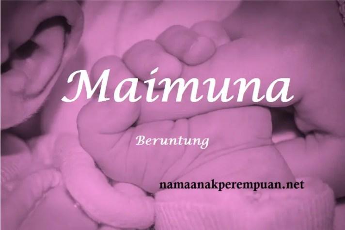 arti nama Maimuna