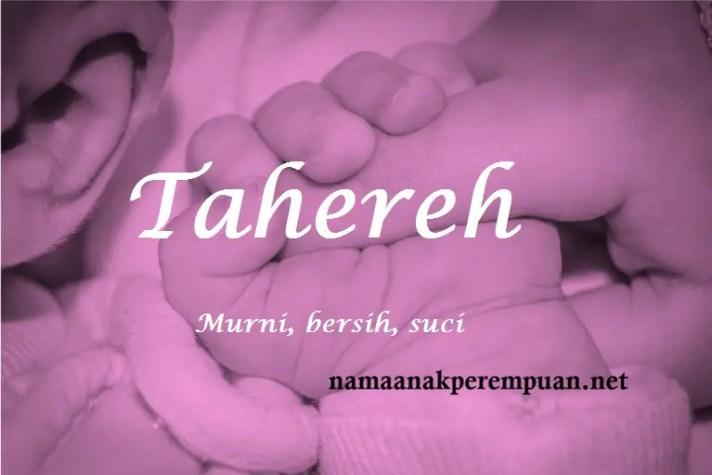 arti nama Tahereh