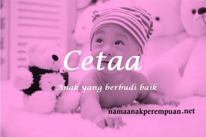 arti nama Cetaa